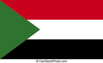 Sudan flag image for any design in simple style