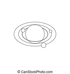 Solar system icon, isometric 3d style - icon in isometric 3d...