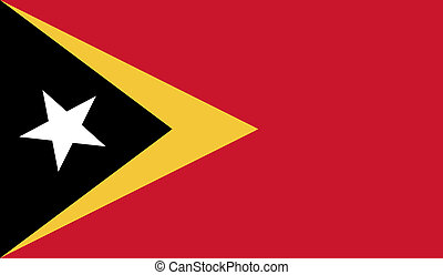 East Timor flag image for any design in simple style