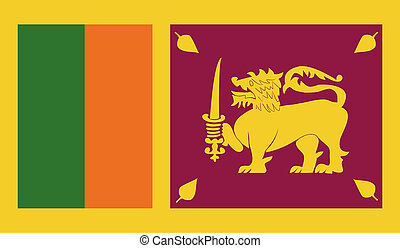 Sri Lanka flag image for any design in simple style