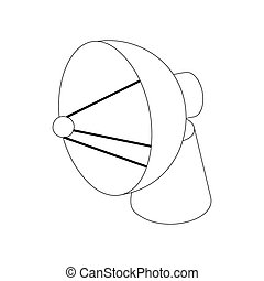 Satellite dish antenna radar icon