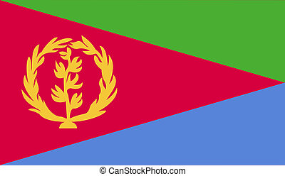 Eritrea flag image for any design in simple style