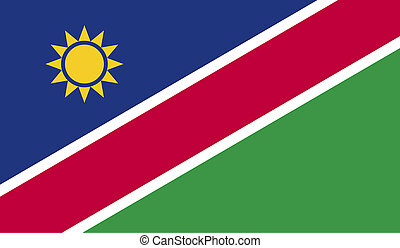 Namibia flag image for any design in simple style