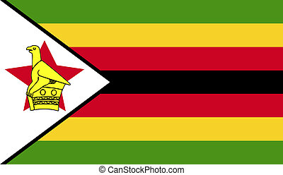 Zimbabwe flag image for any design in simple style