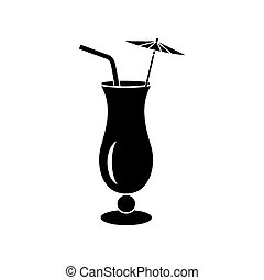 Alcoholic cocktail icon, simple style - Alcoholic cocktail...