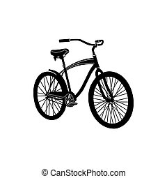 Bicycle icon, simple style - Bicycle icon in simple style...