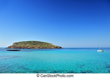 Cala Conta, Ibiza Spain - Beautiful island and turquoise...