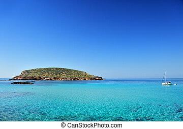 Cala Conta, Ibiza Spain - Beautiful island and turquoise...