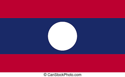 Laos flag image for any design in simple style