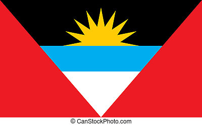 Antigua and Barbuda flag image for any design in simple...