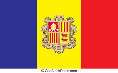 Andorra flag image for any design in simple style