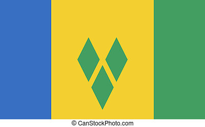 Saint Vincent and the Grenadines flag image for any design...