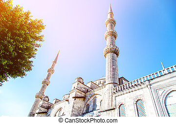 Sultan Ahmet Mosque Turkey on a sky background