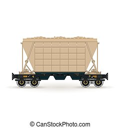 Hopper Isolated on White - Hopper ,Hopper on Railway...