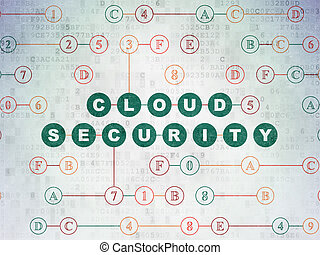 Security concept: Cloud Security on Digital Data Paper background