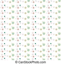 Christmas time pattern - Pattern design of color flower for...