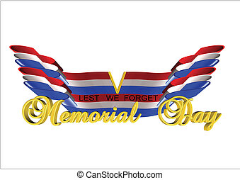 lest we forget - memorial day background with 3d text