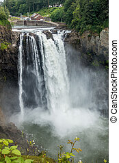 Waterfall At Snoqualmie 9 - Water explodes into a waterfall...