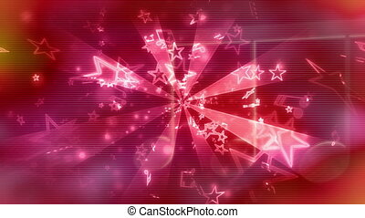 Magenta red Backgrounds music loop - Animated CG magenta red...