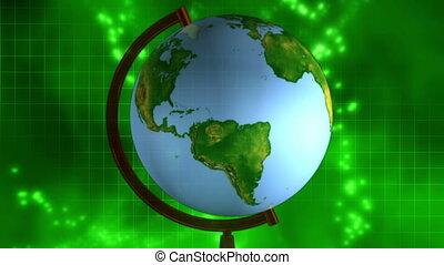 Globe science background loop