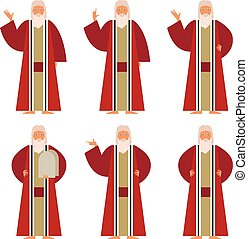 Set of Moses - Vector image of the set of Moses