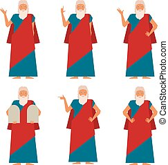 Set of Moses2 - Vector image of the set of Moses