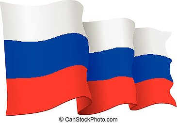 Russia vector flag isolated on whit