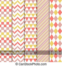 Geometric patterns - seamless vector collection.