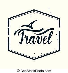 vintage travel sign