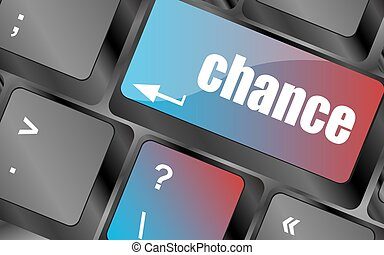 chance button on computer keyboard key vector , keyboard keys, keyboard button
