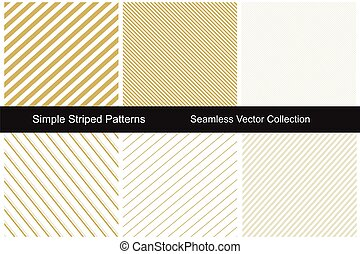 Collection of gold striped backgrounds.