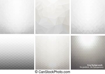 Gray abstract vector backgrounds. - Collection of gray light...