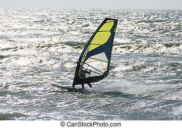 Windsurfer on the north sea, France