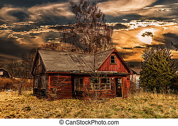 Old Wooden House - Old wooden house in HDR, photo taken in...