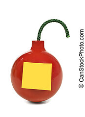 Bomb With Blank Post-it Note