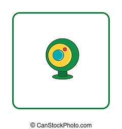 Webcam icon, simple style - Webcam icon in simple style on...