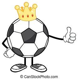 King Soccer Ball Faceless Character