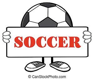 Soccer Ball Faceless Holding A Sig - Soccer Ball Faceless...