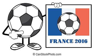 Soccer Ball With France Flag Sign - Soccer Ball Faceless...