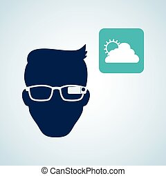 Smart device design. Gadget icon. Isolated illustration ,...