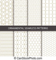 Collection of seamless ornametal patterns. Vector...