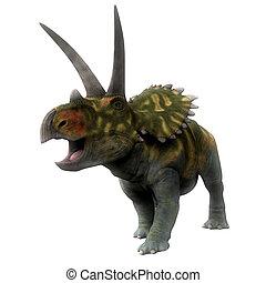 Coahuilaceratops Dinosaur on White