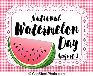 Watermelon Day Poster - Celebrate National Watermelon Day,...