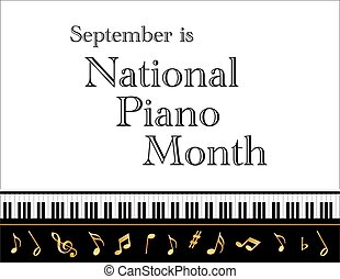 Piano Month Poster - National Piano Month, held each...