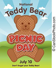 Teddy Bear Picnic Day Poster