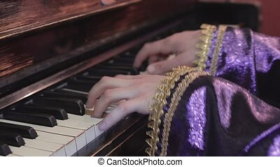 Professional musician playing melody on piano Talent Song...