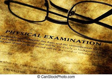 Physical examination grunge form