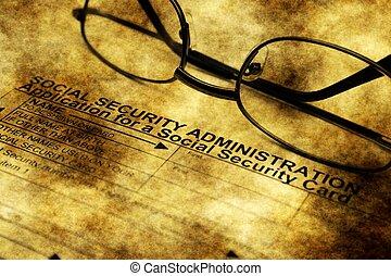 Social security card application