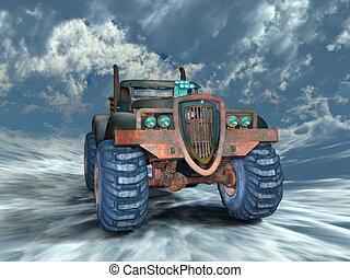 Pickup truck - 3D CG rendering of a pickup truck
