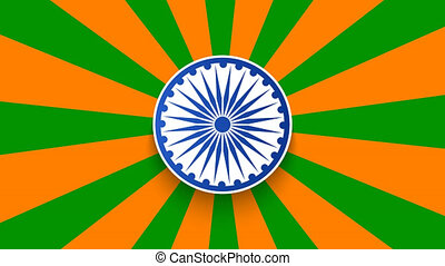 footage modern rotation Indian republic day background. 8K...
